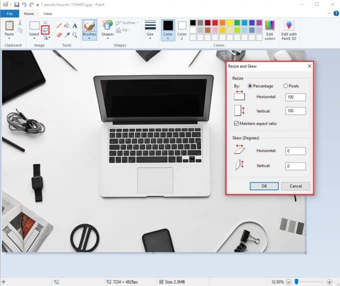 Resize Pictures in Windows with MS Paint App