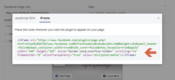 How to Customize Facebook Page Plugin Code