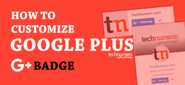 How to Customize Google Plus Badge