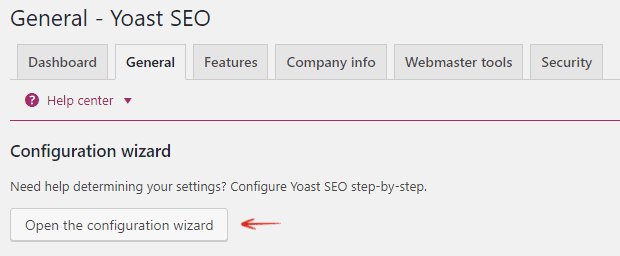 Configuration Wizard - Yoast WordPress SEO Plugin