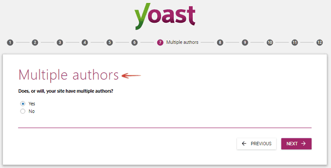 Multiple Authors - Configuration Wizard- Yoast SEO