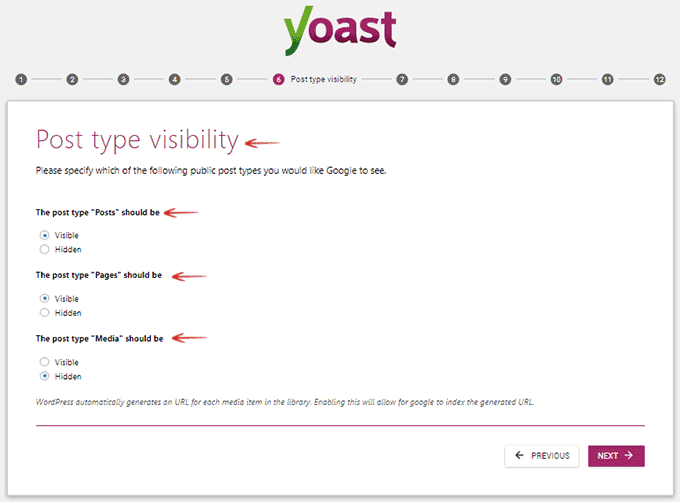 Post Type Visibility Yoast SEO