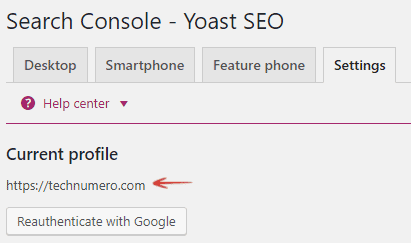 Search Console - Yoast WordPress SEO plugin