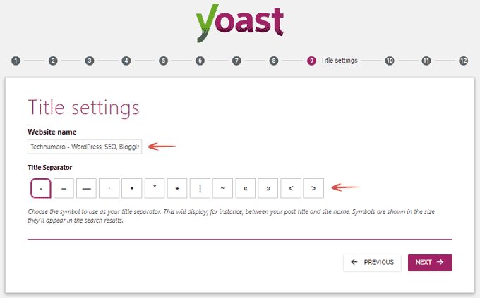 Title Settings - Yoast WordPress SEO Plugin