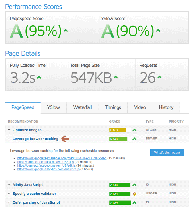 GTmetrix - PageSpeed Test Result