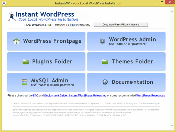 Instant WordPress Home Screen - TechNumero
