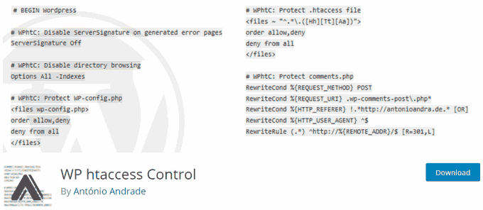 Turn off Server Signature in WordPress with WP htaccess Control Plugin