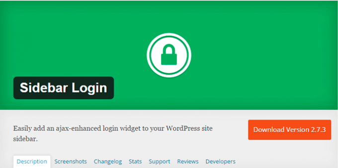 Sidebar Login WordPress Plugin