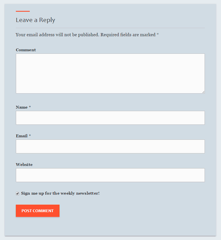 Add Subscribe to Newsletter option in WordPress Comments