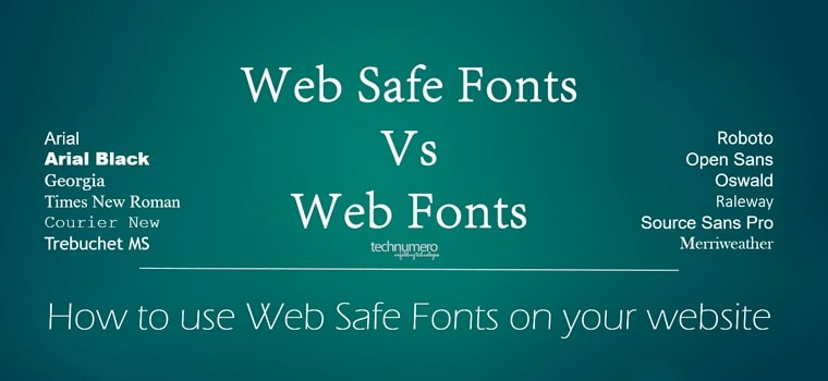 How to use Web Safe Fonts