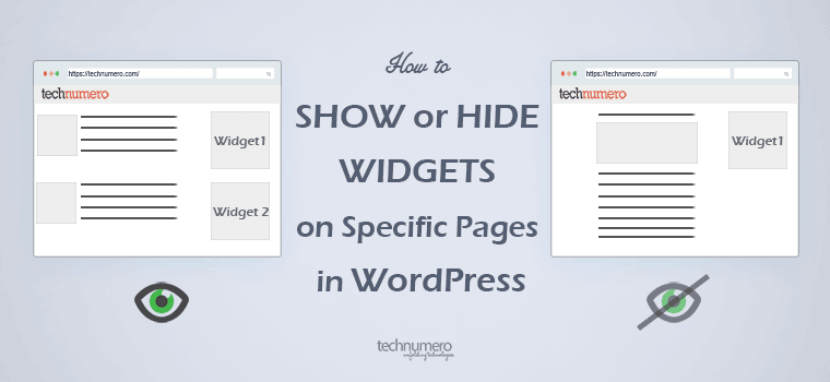 Show or Hide Widgets on Specific Pages in WordPress