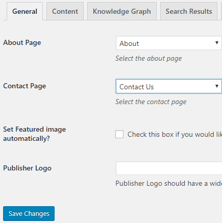 Schema General Settings - Essentials WordPress SEO Plugins