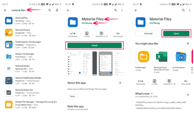 Install the File Manager App