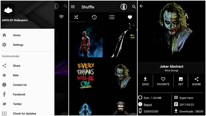 Darkops: AMOLED Wallpapers - App Features and Settings