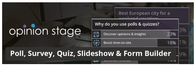 Poll, Survey, Quiz, Slideshow & Form Builder by OpinionStage