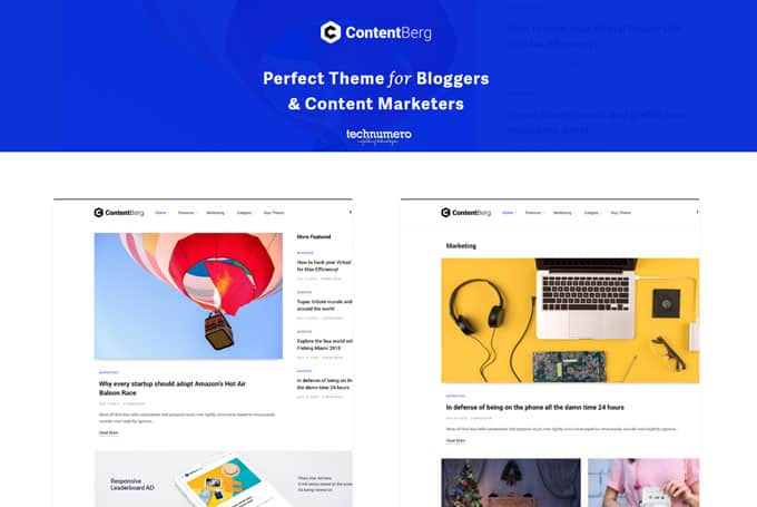 ContentBerg - Blog and Content Marketing Theme