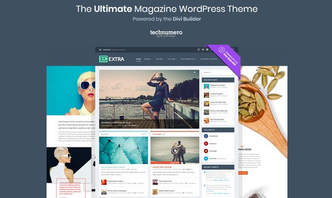 Extra Drag & Drop Magazine WordPress Theme