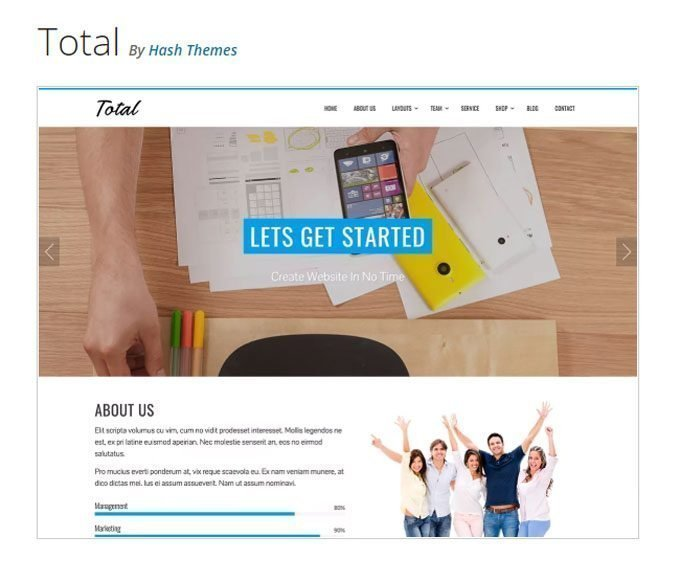 Total WordPress Theme - Hash Themes