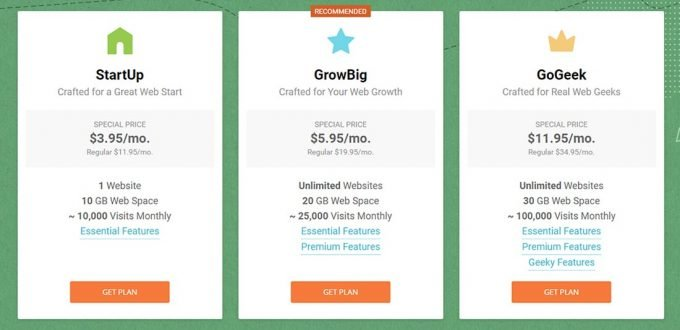 Choose a SiteGround Hosting Plan