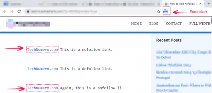 Checking Nofollow Links in Webpage using Chrome Extension