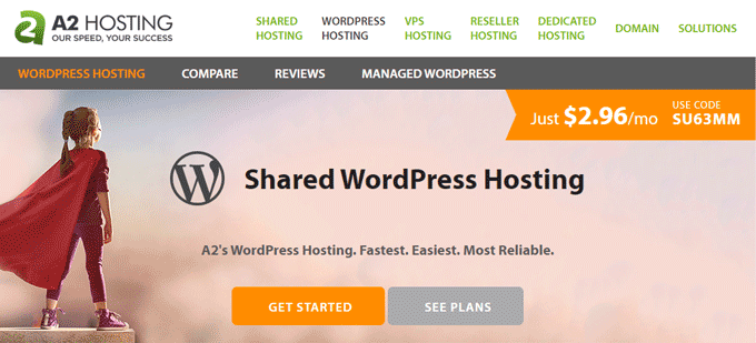 A2 Hosting - Shared WordPress Hosting