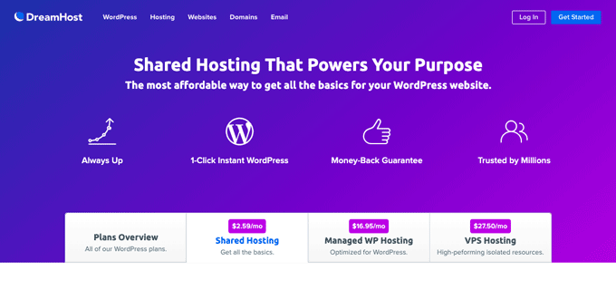 DreamHost - Shared Web Hosting Service