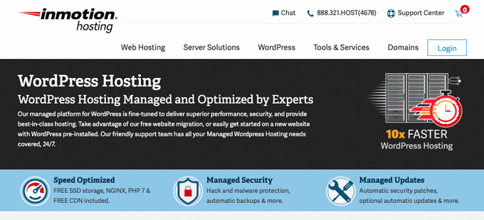 InMotion - WordPress Hosting Managed by Experts