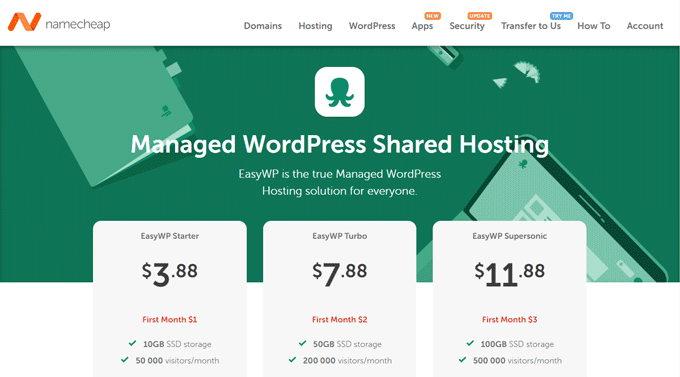 NameCheap - Managed WordPress Shared Hosting Service