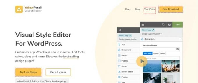 Yellow Pencil Custom CSS Editor WordPress Plugin