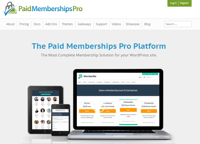 Paid Membership Pro - Popular WordPress Membership Plugin