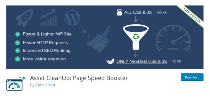 Asset Cleanup - Page Speed Booster with Optimized Asset Delivery