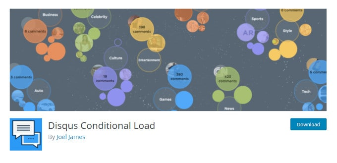 Disqus Conditional Load - Lazy Loading Plugin for Disqus