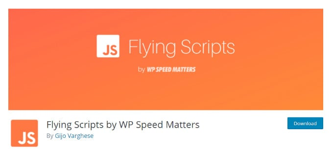 Flying Scripts - WP Plugin for Optimized Delivery of JavaScript Files