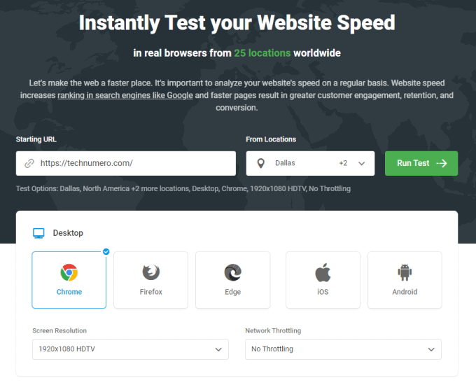 Website Speed Test by Dotcom Tools