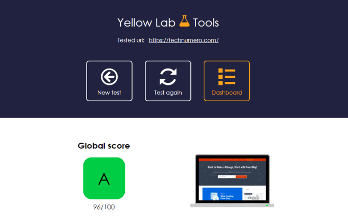 Yellow Lab Site Speed Tool