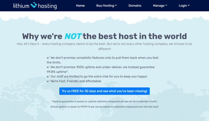 Lithium Hosting - 30 Days Free Hosting for trial