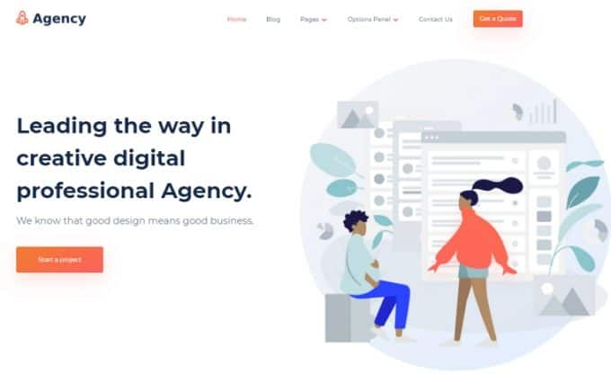 WordPress Theme for Service Providers - Agency