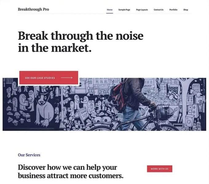 WordPress theme for Consultancies and Business Sites - Breakthrough Pro