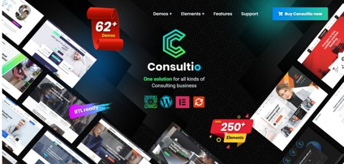 WordPress theme for Consulting Businesses - Consultio