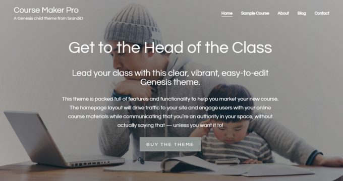 WordPress Business theme for Online Courses - Course Maker