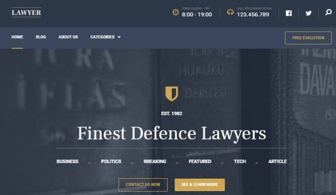 Theme for Lawyers and Law Firms - Lawyer