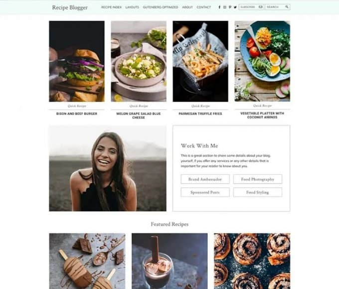 WordPress Theme for Food Bloggers and Chefs - Recipe Blogger