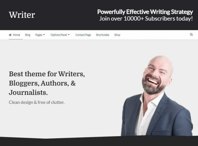 Theme for Authors, Bloggers, Writers & Journalists - Writer